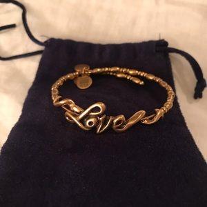 Alex and Ani gold love bracelet